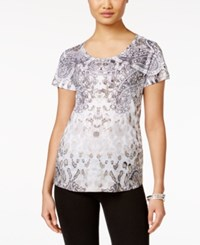 Styleandco. Style Co. Printed Studded T Shirt Only At Macy's Sentimenta