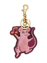 Coach Musical Mouse Keychain Pink