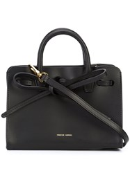 Mansur Gavriel Bow Front Tote Women Leather One Size Black