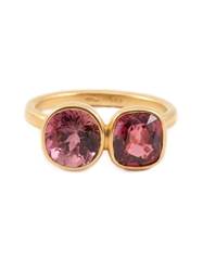 Marie Helene De Taillac Tourmaline Ring Pink And Purple