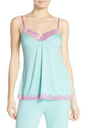 Pj Salvage Lace Trim Jersey Camisole Green