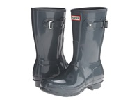 Hunter Original Short Gloss Graphite 1 Women's Rain Boots Gray