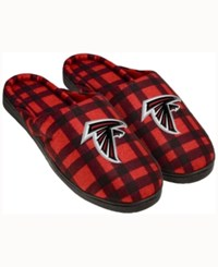 Forever Collectibles Atlanta Falcons Flannel Slide Slippers Black