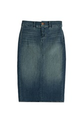 J Brand Jeans Denim Pencil Skirt Blue