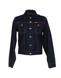 Cotton Belt Denim Outerwear Blue
