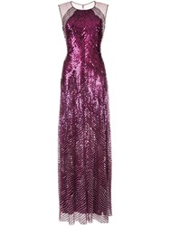 Jenny Packham Sequin Gown Purple