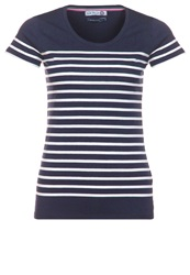 Little Marcel Basic Tshirt Bleu Marine Blanc Dark Blue