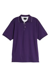 Bobby Jones Solid Tipped Polo Purple