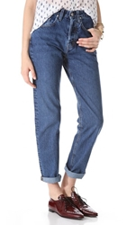 Mih Jeans Halsy Straight Leg Jeans Cherry