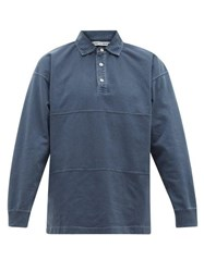 Schnayderman's Panelled Long Sleeved Cotton Top Indigo