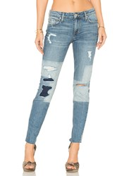 Joe's Jeans Collector's Edition The Icon Ankle Skinny Indigo Discharged Block Treatment