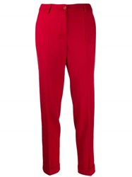 P.A.R.O.S.H. Straight Leg Trousers Red