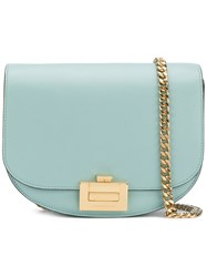 Victoria Beckham Chain Strap Crossbody Bag Women Calf Leather One Size Blue
