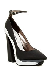 Jeffrey Campbell Power Cut Ankle Strap Platform Pump Multi