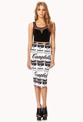 Forever 21 Quirky Soup Midi Skirt