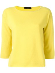 Fabiana Filippi Boat Neck Jumper Yellow Orange