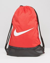 Nike Swoosh Drawstring Backpack In Red Ba5338 657 Red