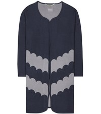 81 Hours Livia Merino Wool Coat Blue