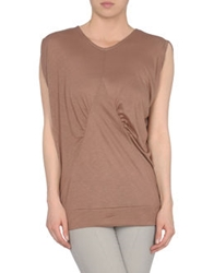 Rue Du Mail Short Sleeve T Shirts Light Brown