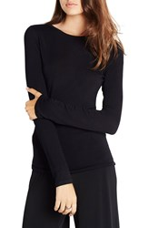 Bcbgeneration Open Back Knit Top Black