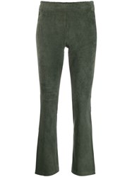 Stouls Classic Cropped Trousers Green
