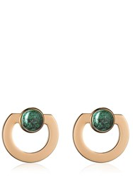 Vita Fede Moneta Open Stone Earrings