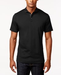 Inc International Concepts Men's Foreman Contrast Placket Polo Only At Macy's Black