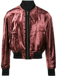 Haider Ackermann Tiziano Bomber Jacket Cotton Polyester Rayon S Red