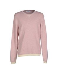 Mauro Grifoni Knitwear Jumpers Men Pastel Pink