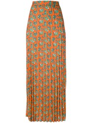 House Of Holland Pleated Maxi Skirt Women Polyester 10