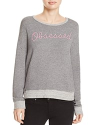 Sundry Obsessed Crossback Pullover Heather Grey