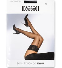 Wolford Satin Touch 20 Hold Ups Black