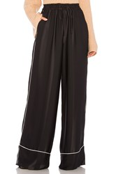 Kendall Kylie Broken Stripe Wide Leg Pant Black