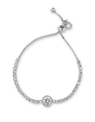Anne Klein Cubic Zirconia And Crystal Necklace Silver