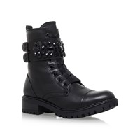 Miss Kg Sax Low Heel Ankle Boots Black