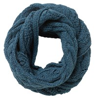 East Chunk Knitted Snood Teal
