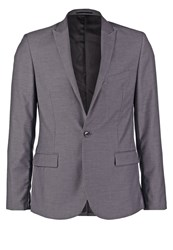 Kiomi Suit Jacket Grey Melange Mottled Grey