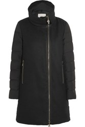 Moncler Aglaia Paneled Twill And Quilted Shell Down Coat Black