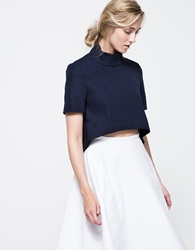 Finders Keepers The Alchemist Sleeve Top Navy