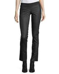 Etienne Marcel Valery Straight Leg Leather Leggings Black