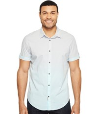 Calvin Klein Jeans Short Sleeve Ombre Button Down Sea Crystal Men's Short Sleeve Button Up Blue