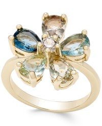 Charter Club Gold Tone Multi Crystal Flower Ring Only At Macy's