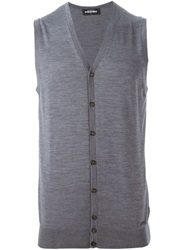 Dsquared2 Sleeveless Cardigan Grey
