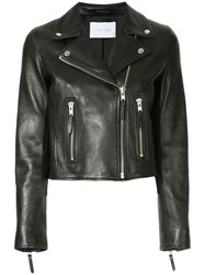 Nobody Denim Classic Leather Jacket Blk Leather Black