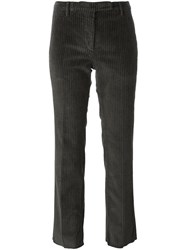 Incotex Ribbed Straight Trousers Grey
