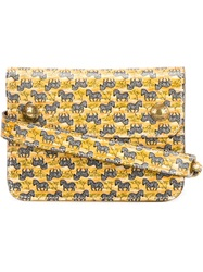 Hermes Vintage Zebra Print Belt Pouch Yellow And Orange