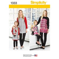 Simplicity Adult And Children's Tunic And Leggings Sewing Pattern 1333