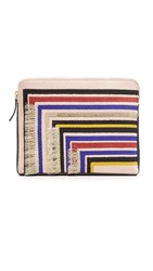 Lizzie Fortunato Safari Clutch Stella Stripe