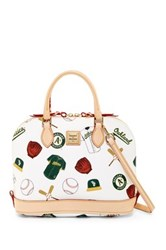 Dooney And Bourke Athletics Zip Zip Satchel White