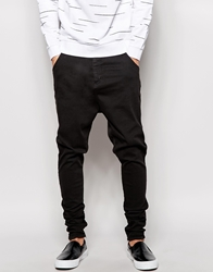 Sik Silk Siksilk Black Drop Crotch Denim Jeans